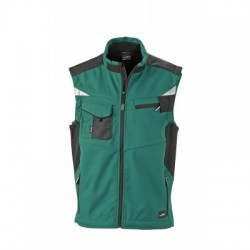 Giacche Workwear Softshell Vest colore dark-green/black taglia XXL