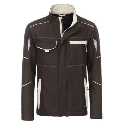 Soft shell Workwear Softshell Jacket-Level 2 colore brown/stone taglia XS