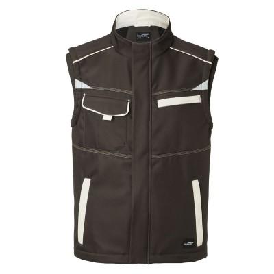 Soft shell Workwear Softshell Vest-Level 2 colore brown/stone taglia XS