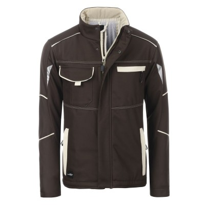 Soft shell Workwear Softshell Padded Jacket-Level 2 colore brown/stone taglia XS