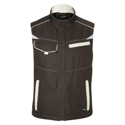 Soft shell Workwear Softshell Padded Vest-Level 2 colore brown/stone taglia XS