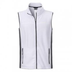 Pile Men's Workwear Fleece Vest colore white/carbon taglia M