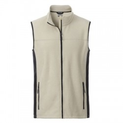 Pile Men's Workwear Fleece Vest colore stone/black taglia XS