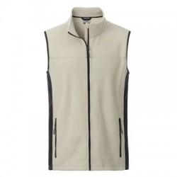 Pile Men's Workwear Fleece Vest colore stone/black taglia 3XL
