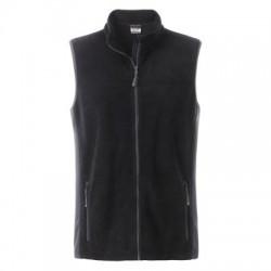 Pile Men's Workwear Fleece Vest colore black/carbon taglia S