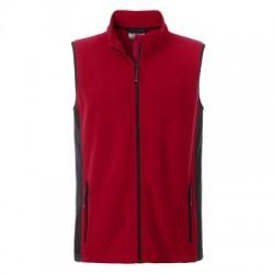 Pile Men's Workwear Fleece Vest colore red/black taglia XS