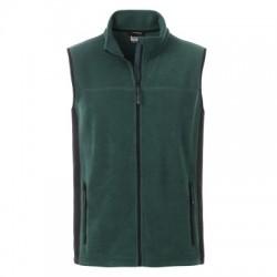 Pile Men's Workwear Fleece Vest colore dark-green/black taglia M