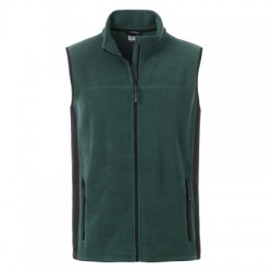 Pile Men's Workwear Fleece Vest colore dark-green/black taglia L