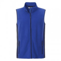 Pile Men's Workwear Fleece Vest colore royal/navy taglia M