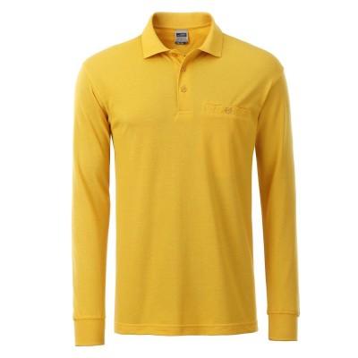 Polo Men's Workwear Polo Pocket Longsleeve colore gold-yellow taglia XS