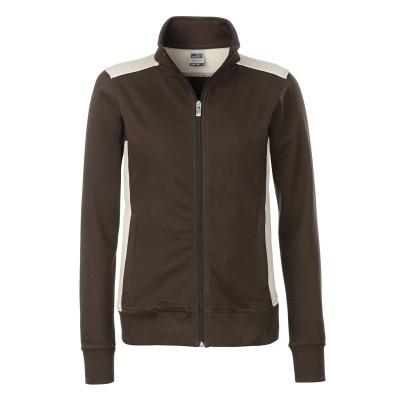 Felpe Ladies' Workwear Sweat Jacket-Level 2 colore brown/stone taglia S