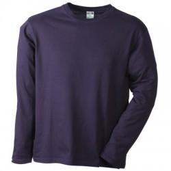 T-Shirt Men's Long-Sleeved Medium colore aubergine taglia L