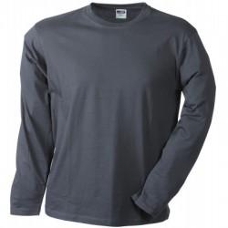 T-Shirt Men's Long-Sleeved Medium colore graphite taglia S
