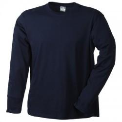 T-Shirt Men's Long-Sleeved Medium colore navy taglia L