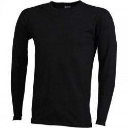 T-Shirt Men's Long-Sleeved Medium colore black taglia S