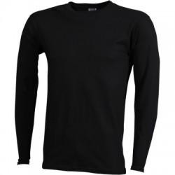 T-Shirt Men's Long-Sleeved Medium colore black taglia M