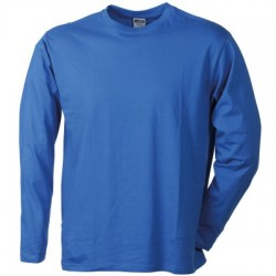 T-Shirt Men's Long-Sleeved Medium colore royal taglia L