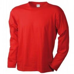 T-Shirt Men's Long-Sleeved Medium colore red taglia M