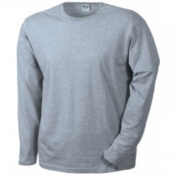 T-Shirt Men's Long-Sleeved Medium colore grey-heather taglia XXL