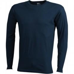 T-Shirt Men's Long-Sleeved Medium colore petrol taglia M