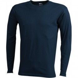 T-Shirt Men's Long-Sleeved Medium colore petrol taglia XL