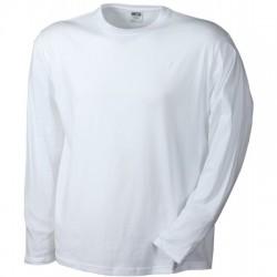 T-Shirt Men's Long-Sleeved Medium colore white taglia S