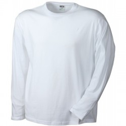 T-Shirt Men's Long-Sleeved Medium colore white taglia M