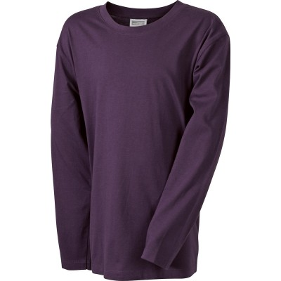 T-Shirt Junior Shirt Long-Sleeved Medium colore aubergine taglia XS