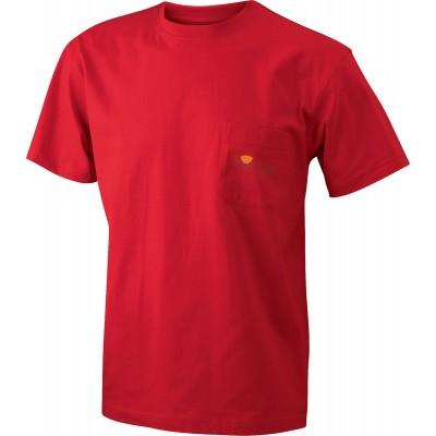 T-Shirt Men's Round-T Pocket colore red taglia S