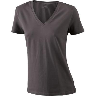 T-Shirt Ladies' Stretch V-T colore charcoal taglia S