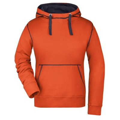 Felpe Ladies' Lifestyle Hoody colore dark-orange/navy taglia S