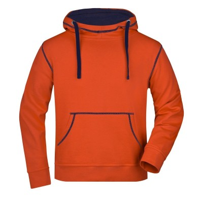 Felpe Men's Lifestyle Hoody colore dark-orange/navy taglia S