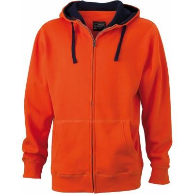 Felpe Men's Lifestyle Zip-Hoody colore dark-orange/navy taglia S