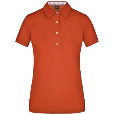 Polo Ladies' Plain Polo colore dark-orange/black/off-white taglia S