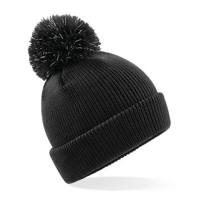 Cappelli Junior Reflective Bobble Beanie colore black taglia UNICA