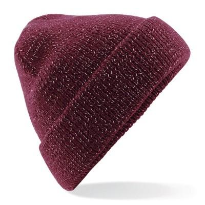 Cappelli Reflective Beanie colore burgundy taglia UNICA