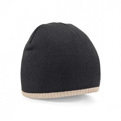 Cappelli Two-Tone Pull-On Beanie colore black/stone taglia UNICA