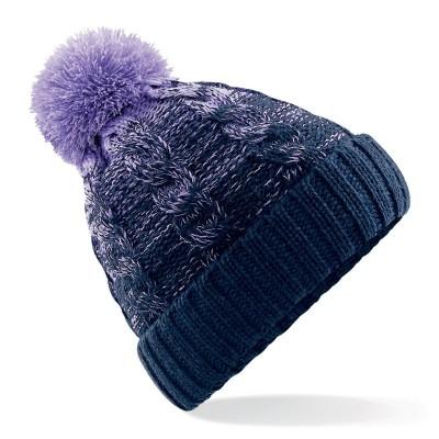 Cappelli Ombré Beanie colore lavander/french navy taglia UNICA