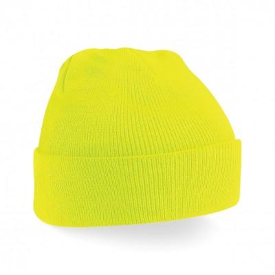 Cappelli Junior Original Cuffed Beanie colore fluorescent yellow taglia UNICA