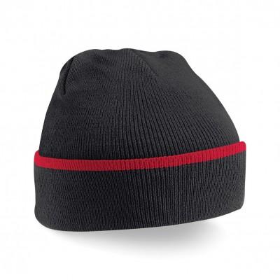 Cappelli Teamwear Beanie colore black/classic red taglia UNICA