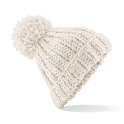 Cappelli Oversized Hand-Knitted Beanie colore oatmeal taglia UNICA