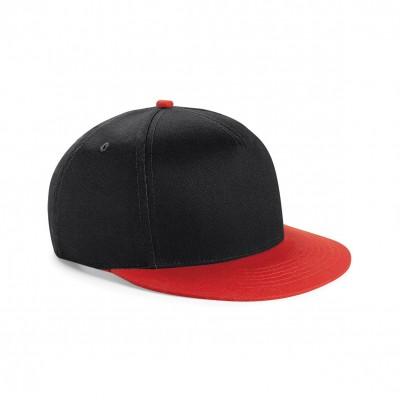 Cappelli Youth Size Snapback colore black/bright red taglia UNICA