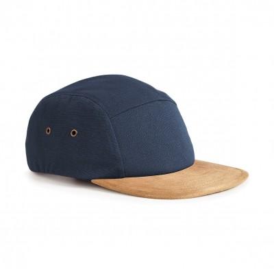 Cappelli Suede Peak 5 Panel Cap colore navy taglia UNICA