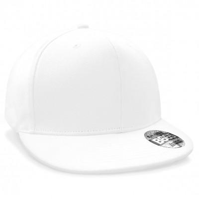 Cappelli Pro-Stretch Flat Peak Cap colore white taglia UNICA
