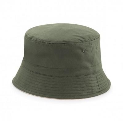 Cappelli Reversible Bucket Hat colore olive green/stone taglia S/M