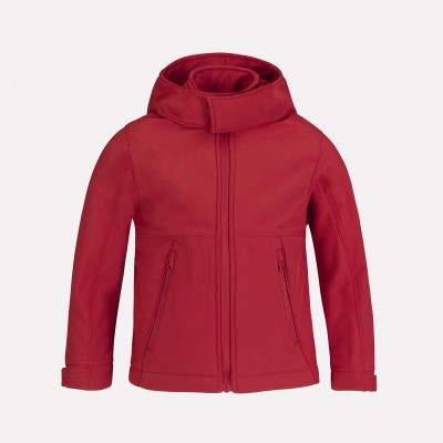 Giacche Hooded Softshell /Kids colore red taglia 5/6