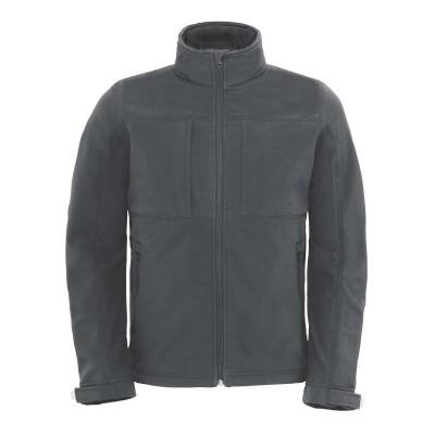 Soft shell Hooded Softshell /Men colore dark grey taglia S