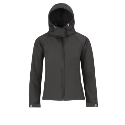 Soft shell Hooded Softshell /Women colore dark grey taglia XS