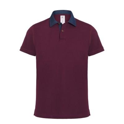Polo Dnm Forward /Men colore denim/burgundy taglia S